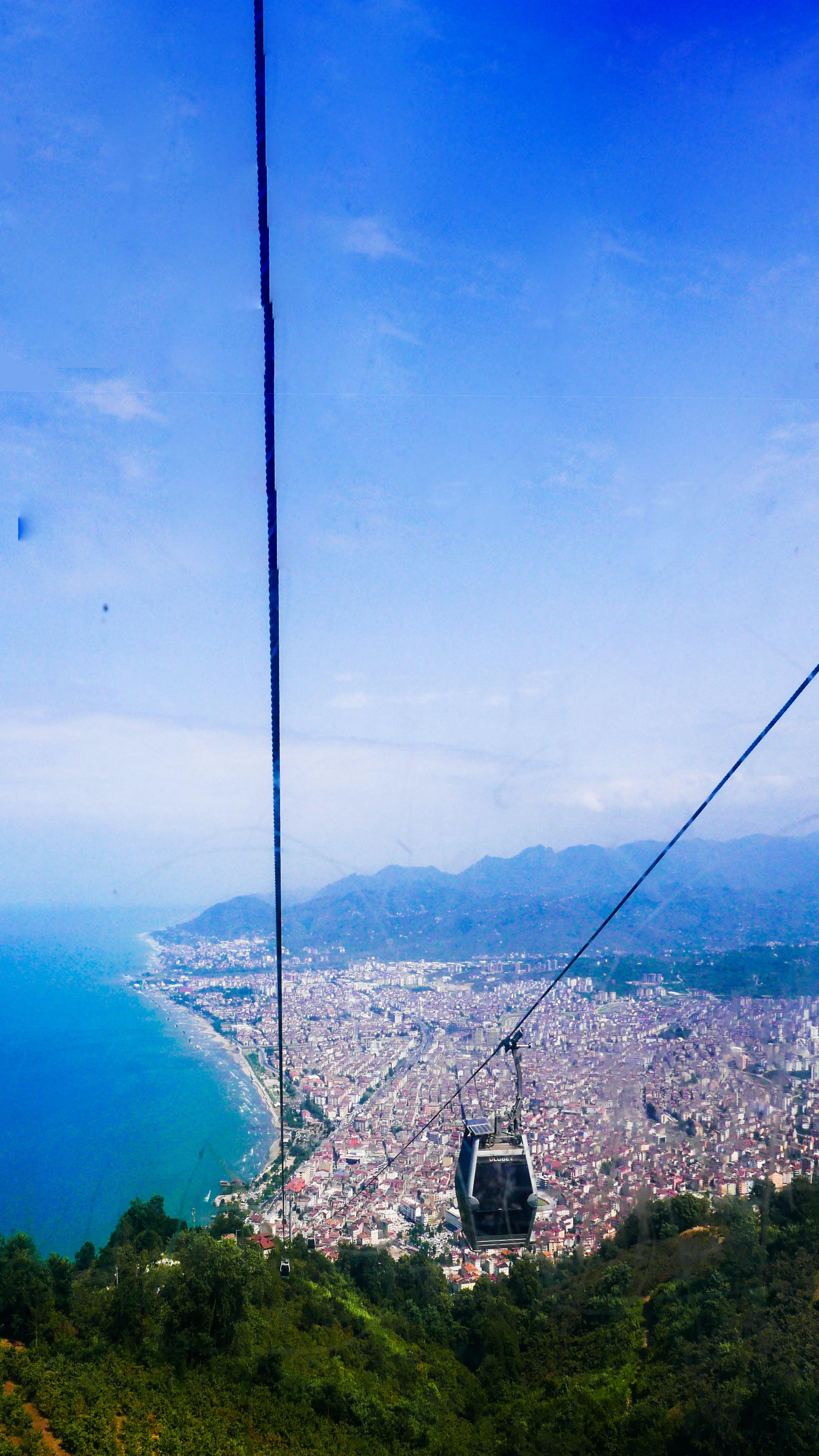 Free stock photo of bird's eye view, Black Sea, city, forest