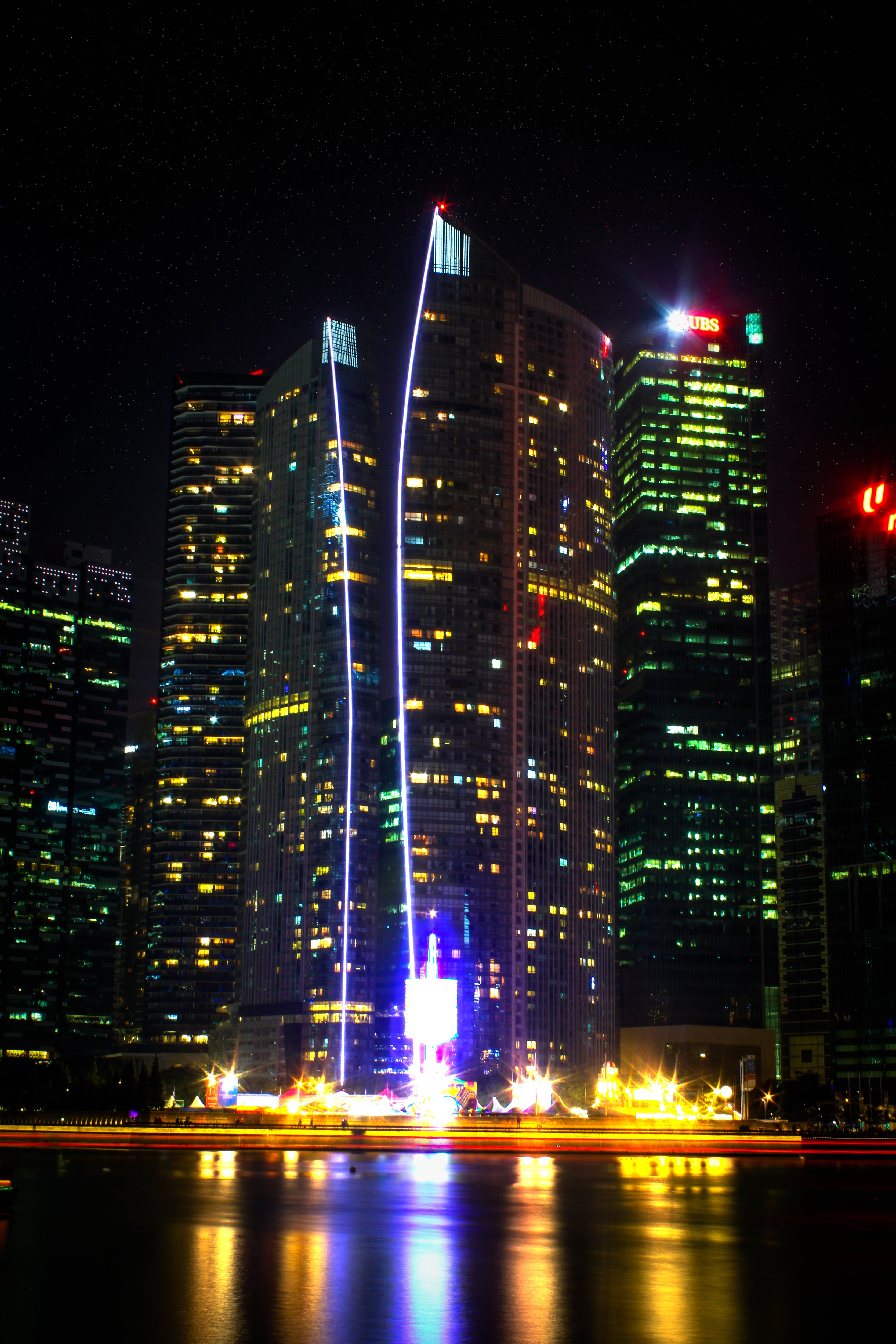 Photo Of High-rise Buildings During Night Time