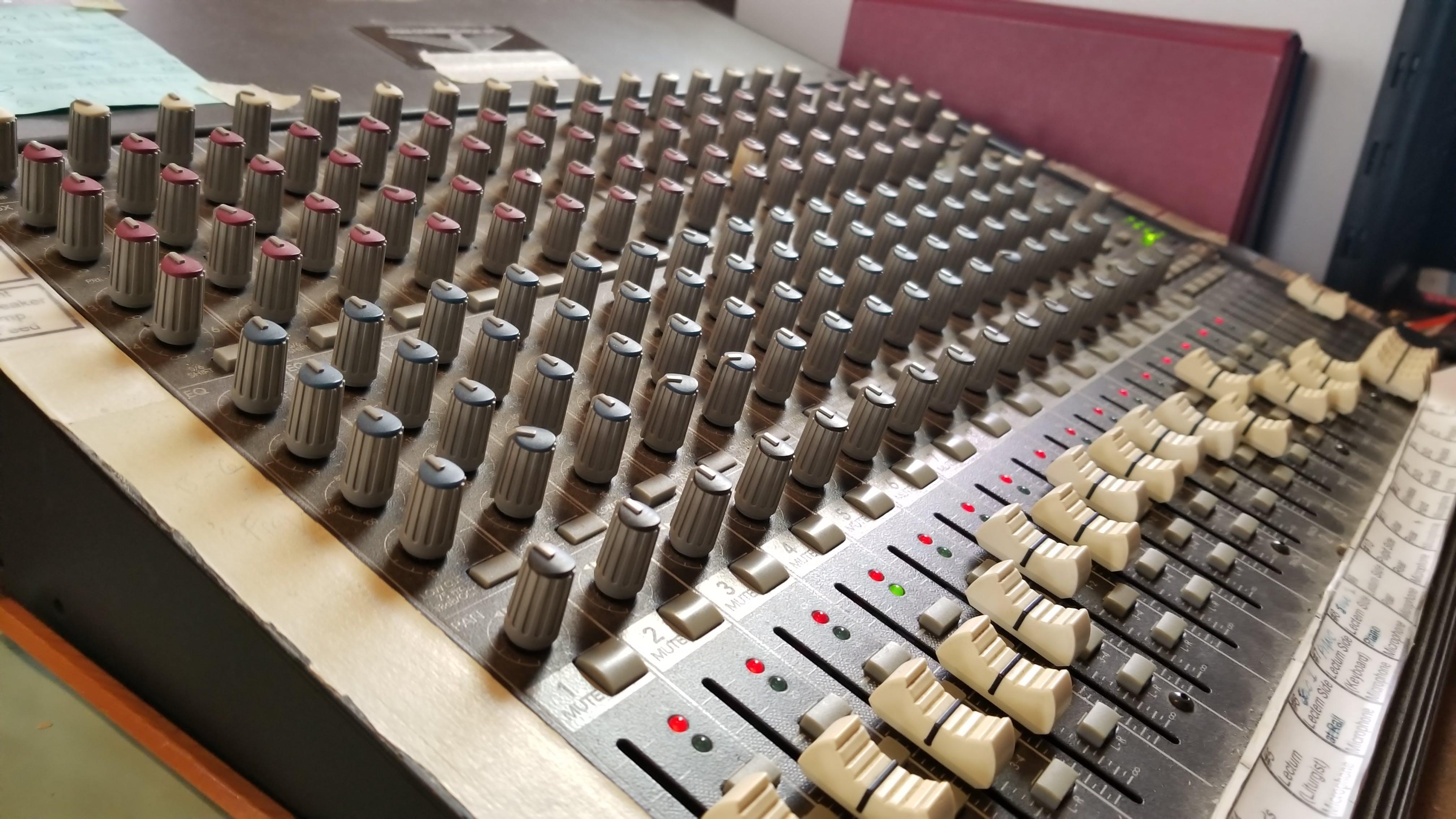 Free stock photo of audio, audio mixer