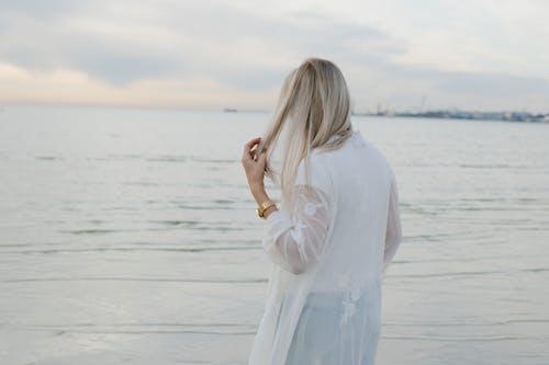Free stock photo of beach, dawn, dress