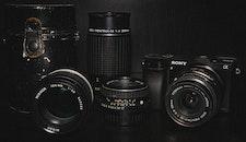 camera, lens, sony