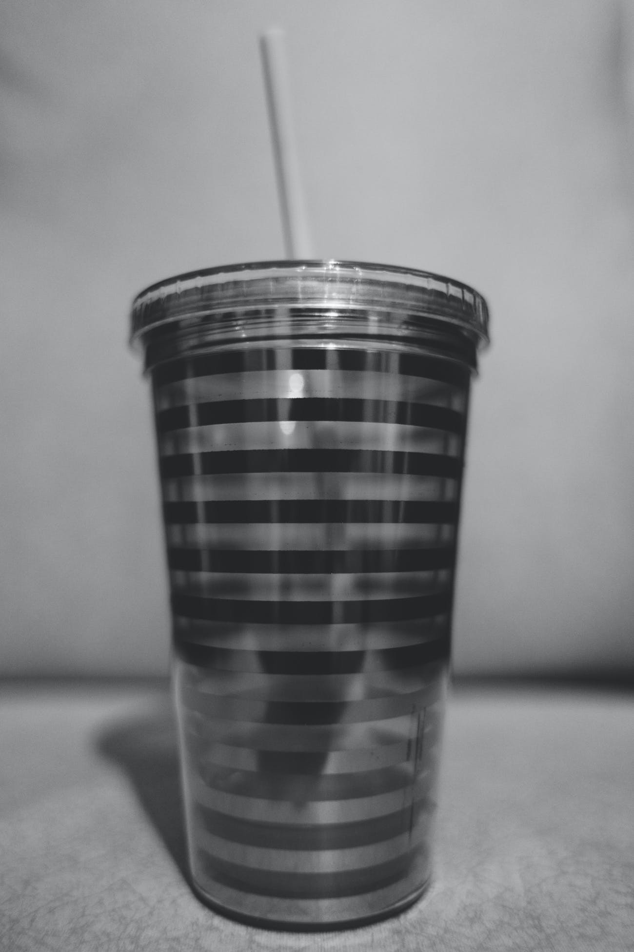 black and-white, cup