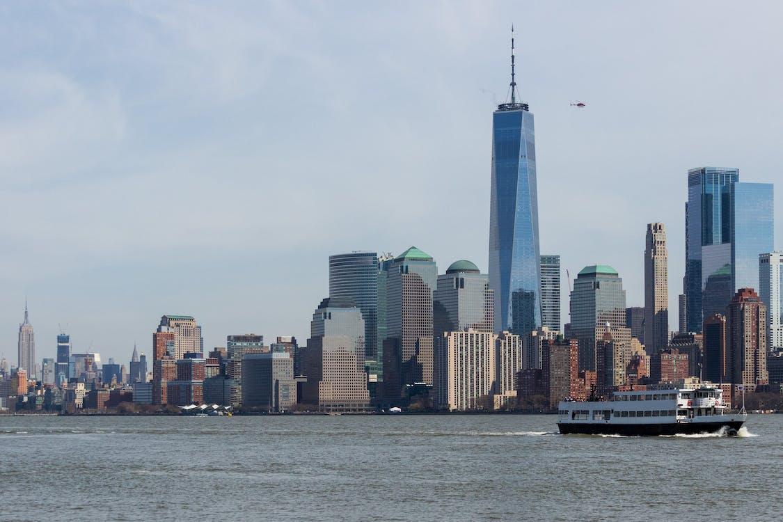 City Skyline Across Body of Water