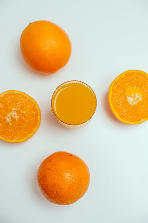 A Close-Up Shot of a Fresh Orange Juice