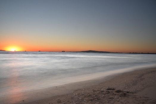 Free stock photo of landscape, sunset, beach, ocean