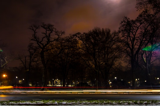 Free stock photo of lights, night, long exposure, wroclaw