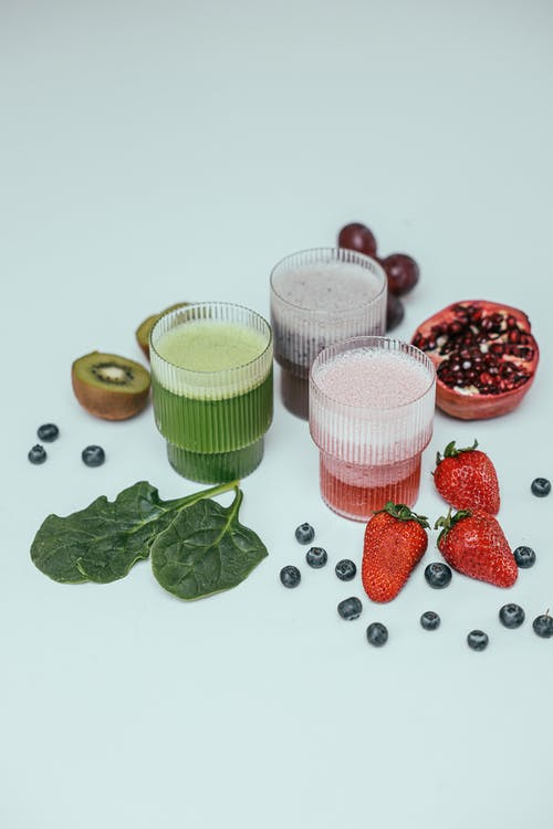 Fruit Juice in Drinking Glasses