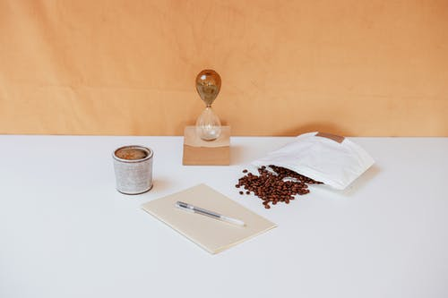 Coffee Beans near Hourglass