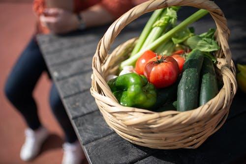 A Close-Up Shot of a Basket of Vegetables