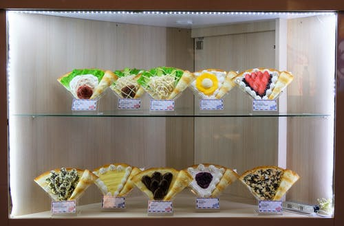 Free stock photo of window food display artificial