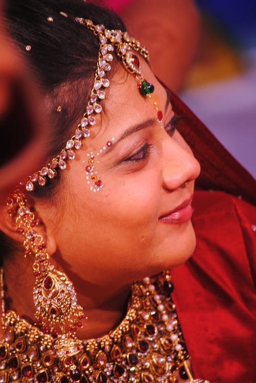 Free stock photo of bride, golden yellow, indian wedding