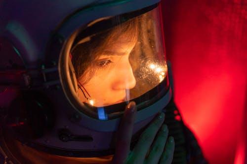 Imagine de stoc gratuită din a închide, adult, astronaut