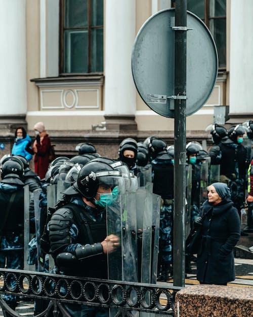 Police Men Standing on the Street