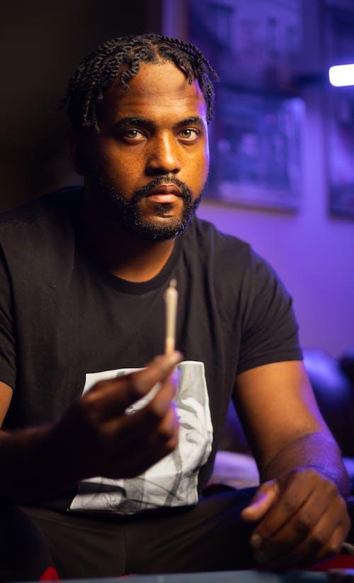 Gratis stockfoto met Afro-Amerikaans, bebaarde, blurry achtergrond