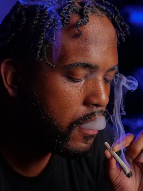 Gratis arkivbilde med afrikansk-amerikansk, bart, cannabis kultur