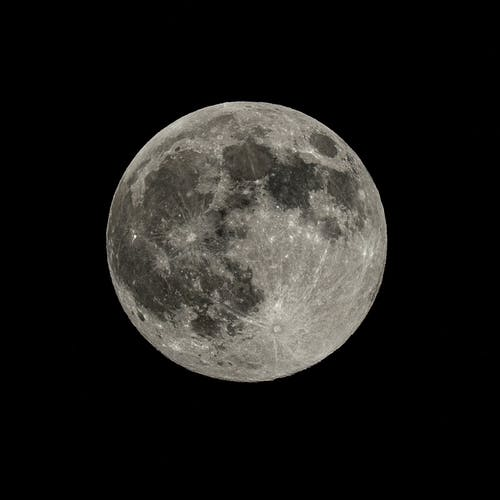Free stock photo of full moon, pink