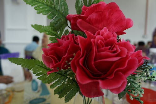 Free stock photo of artificial flowers, flower, red