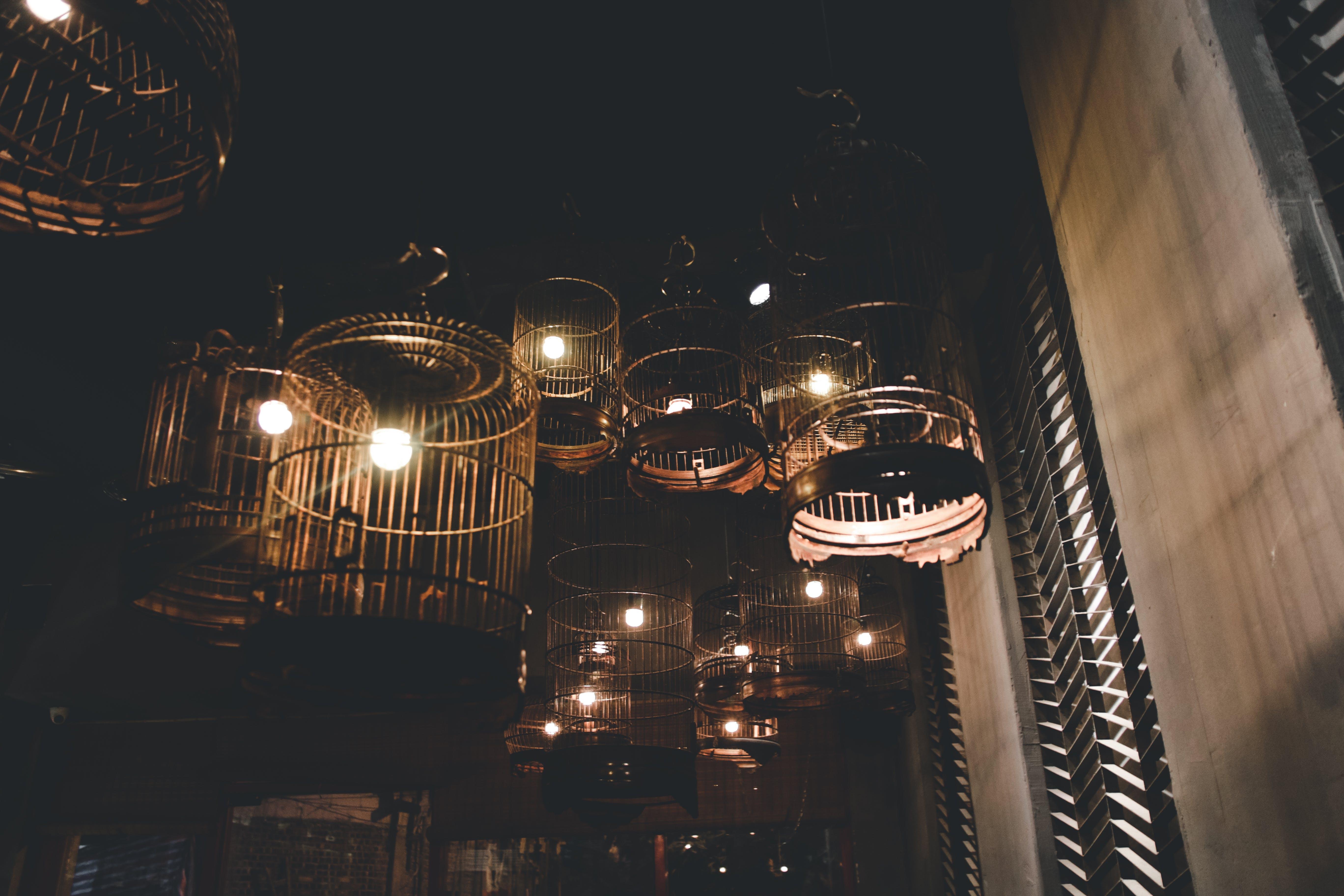 Kostenloses Stock Foto zu abend, architektur, aufnahme von unten, beleuchtet