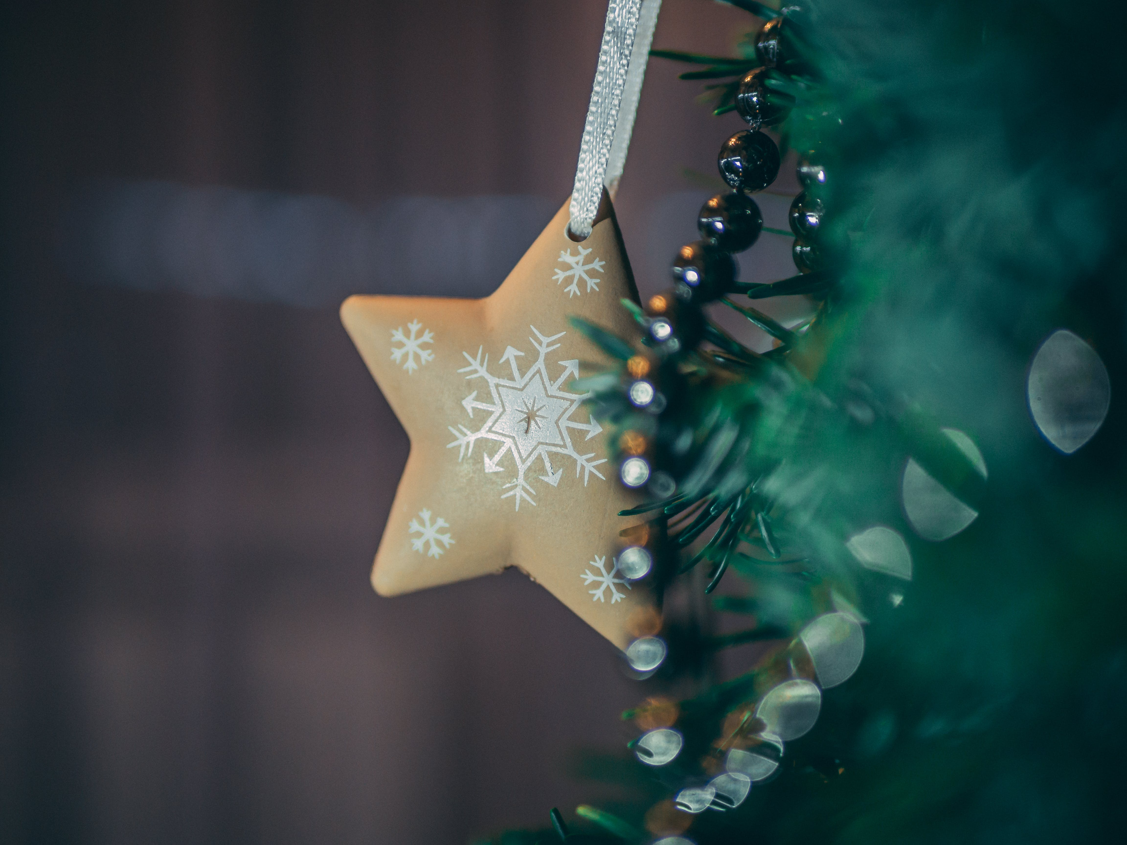 Brown Star Tree Decor