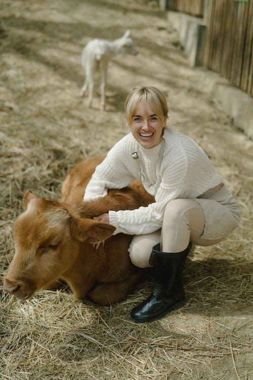 Kostenloses Stock Foto zu außerorts, bauernhof, cowgirl
