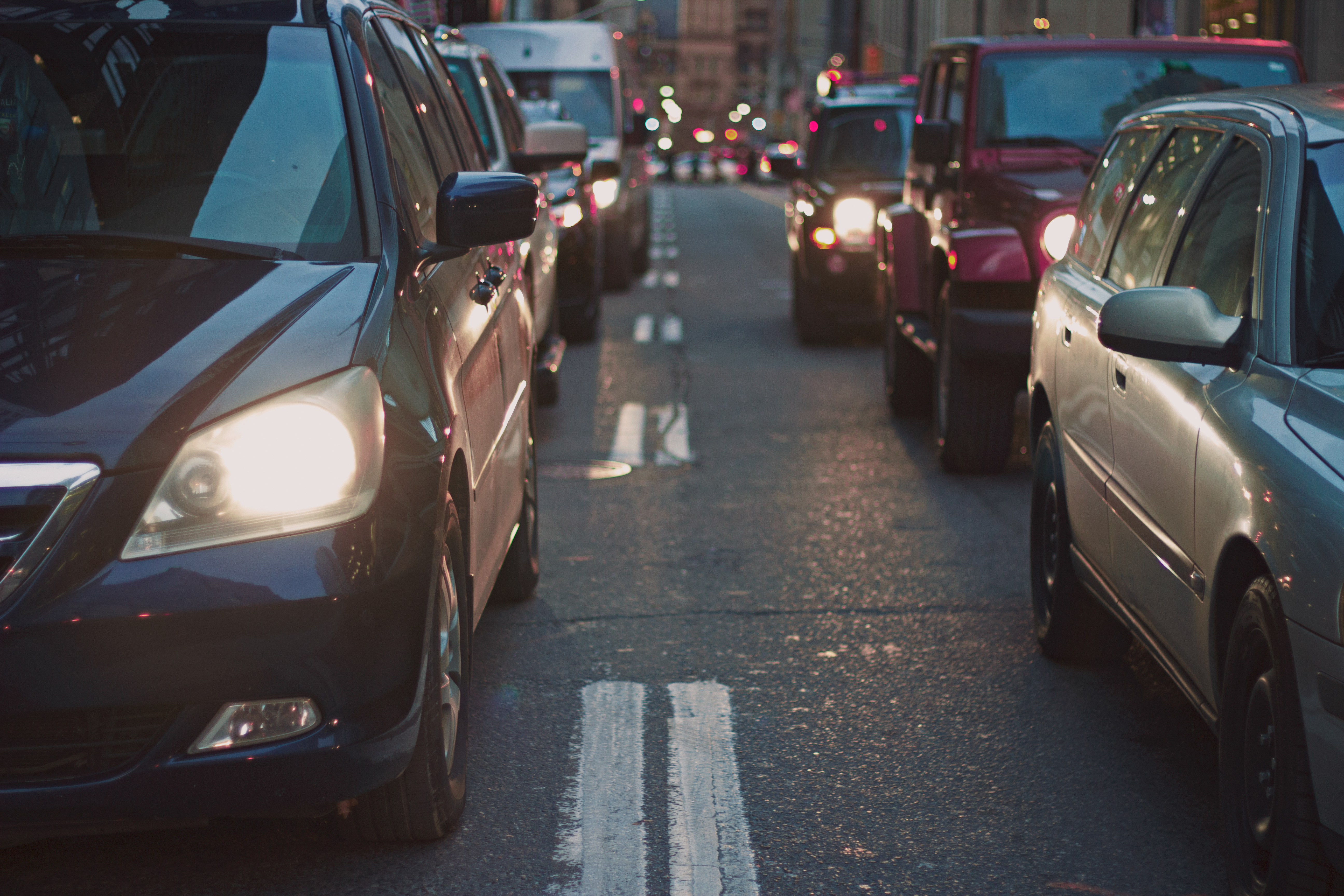 Free stock photo of cars, traffic, street, traffic jam