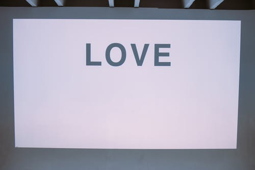 White Wall With Love Text
