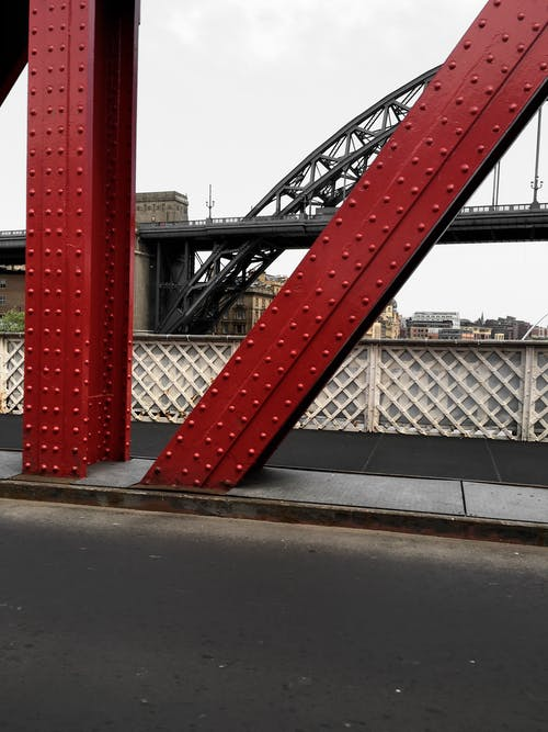 Free stock photo of bridge, Gateshead, Newcastle upon tyne, red