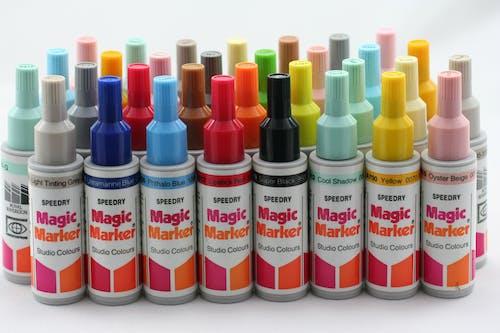 Free stock photo of color, color palette, color pens, colour