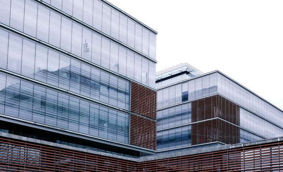 Clear Glass Windowed Low Rise Building