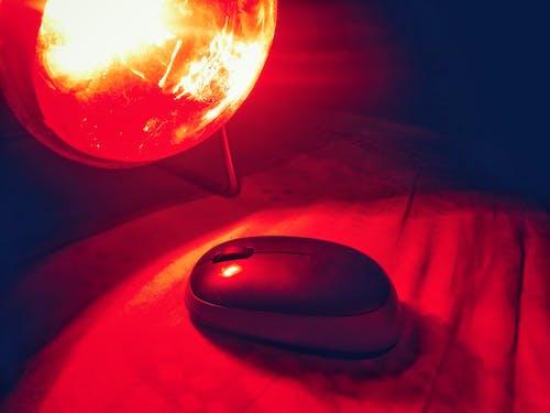 Бесплатное стоковое фото с абажур, компьютерная мышь, красновато, красный