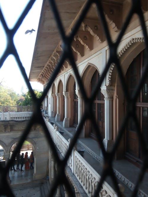 Photos gratuites de contre-plongée, fenêtre en arc, fort, jaipur