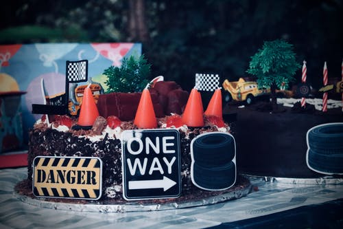 Cake With Road Signs