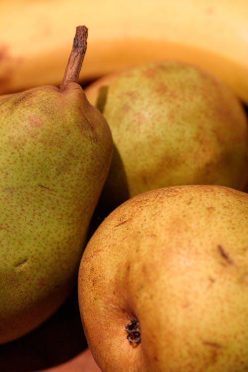Free stock photo of banana, green, green pear, green pears