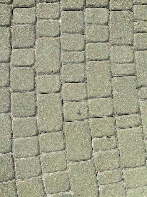 Gray Concrete Brick Floor