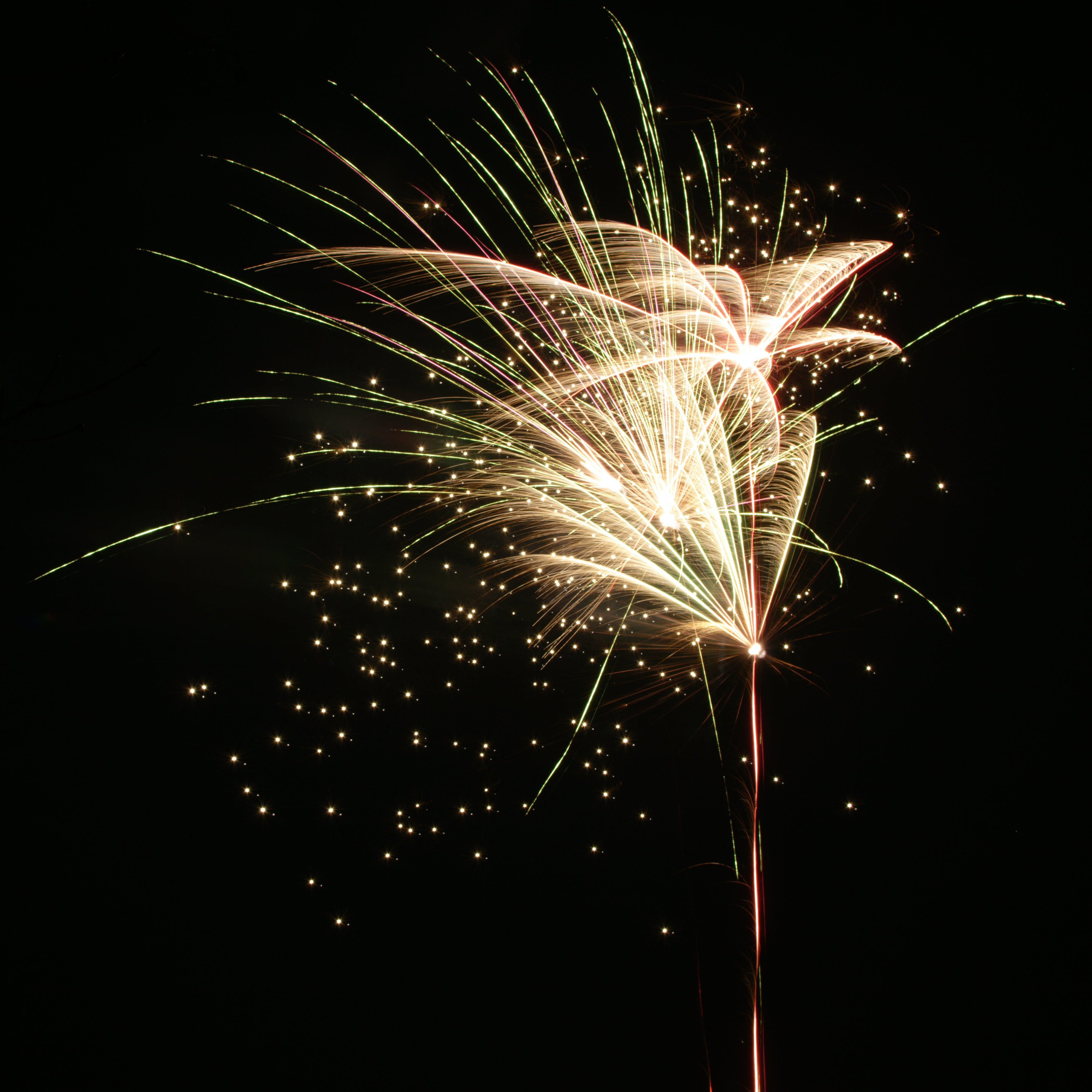 White and Yellow Fireworks