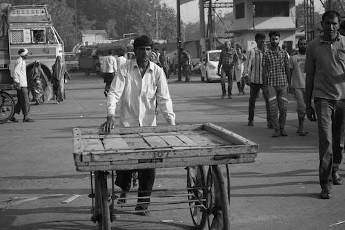 印度, 單色, 工作, 市場 的 免费素材照片