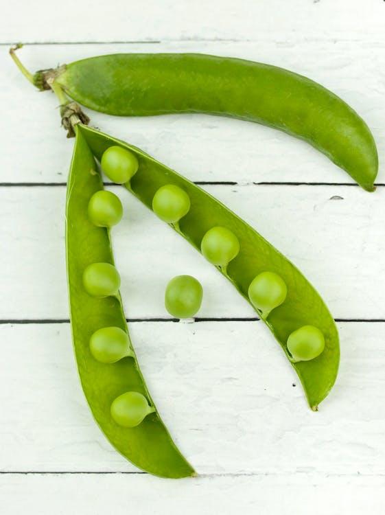 건강한, 녹색, 녹색 완두콩