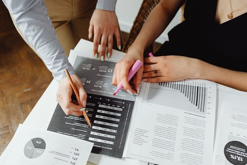 Close-Up Photo of Accounting Documents