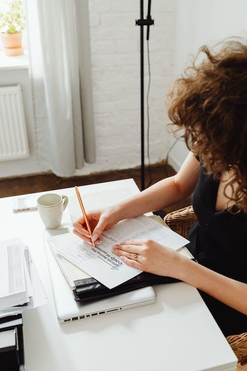 Woman Doing Her Paperwork