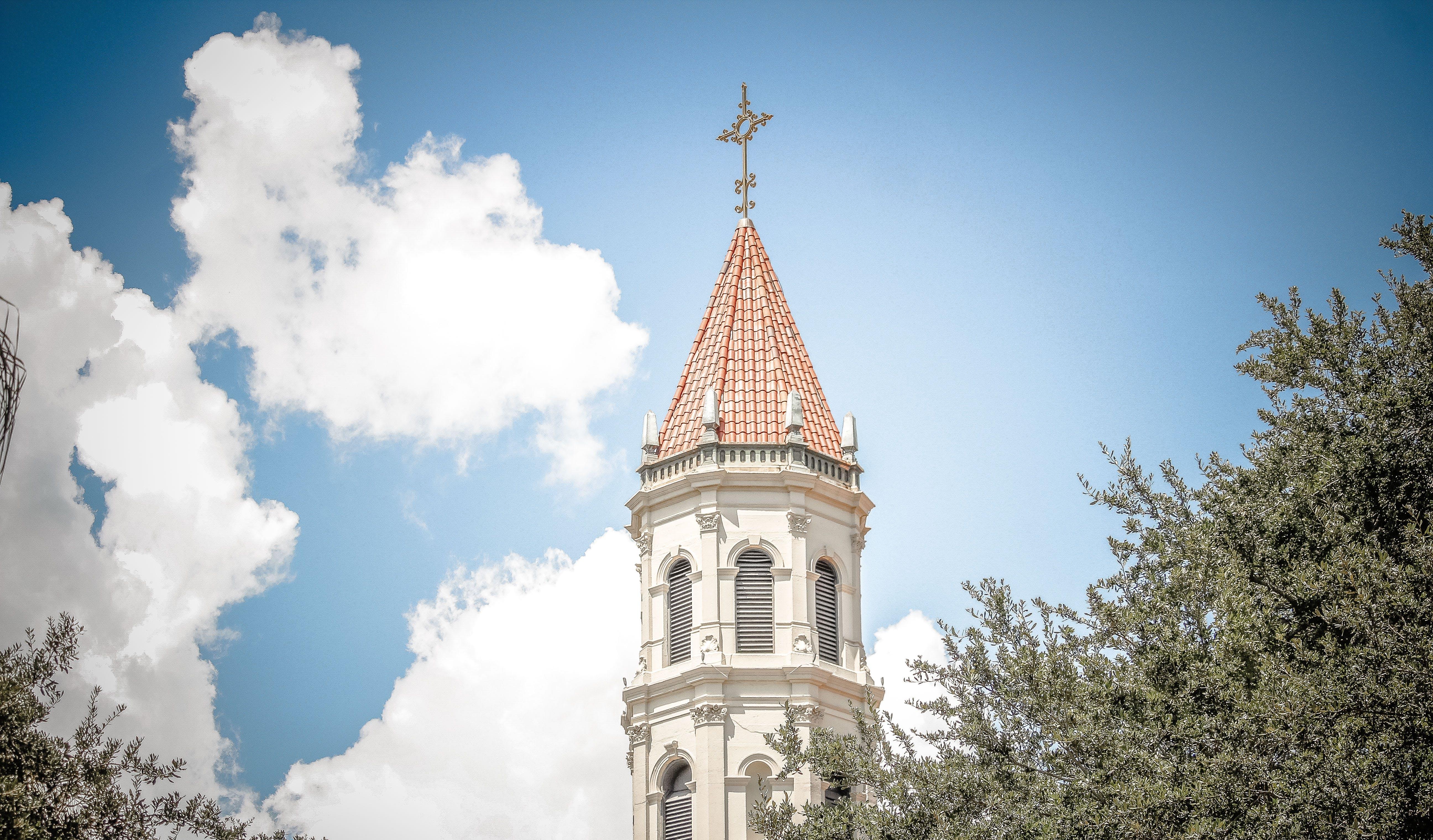 White Concrete Cross Tower