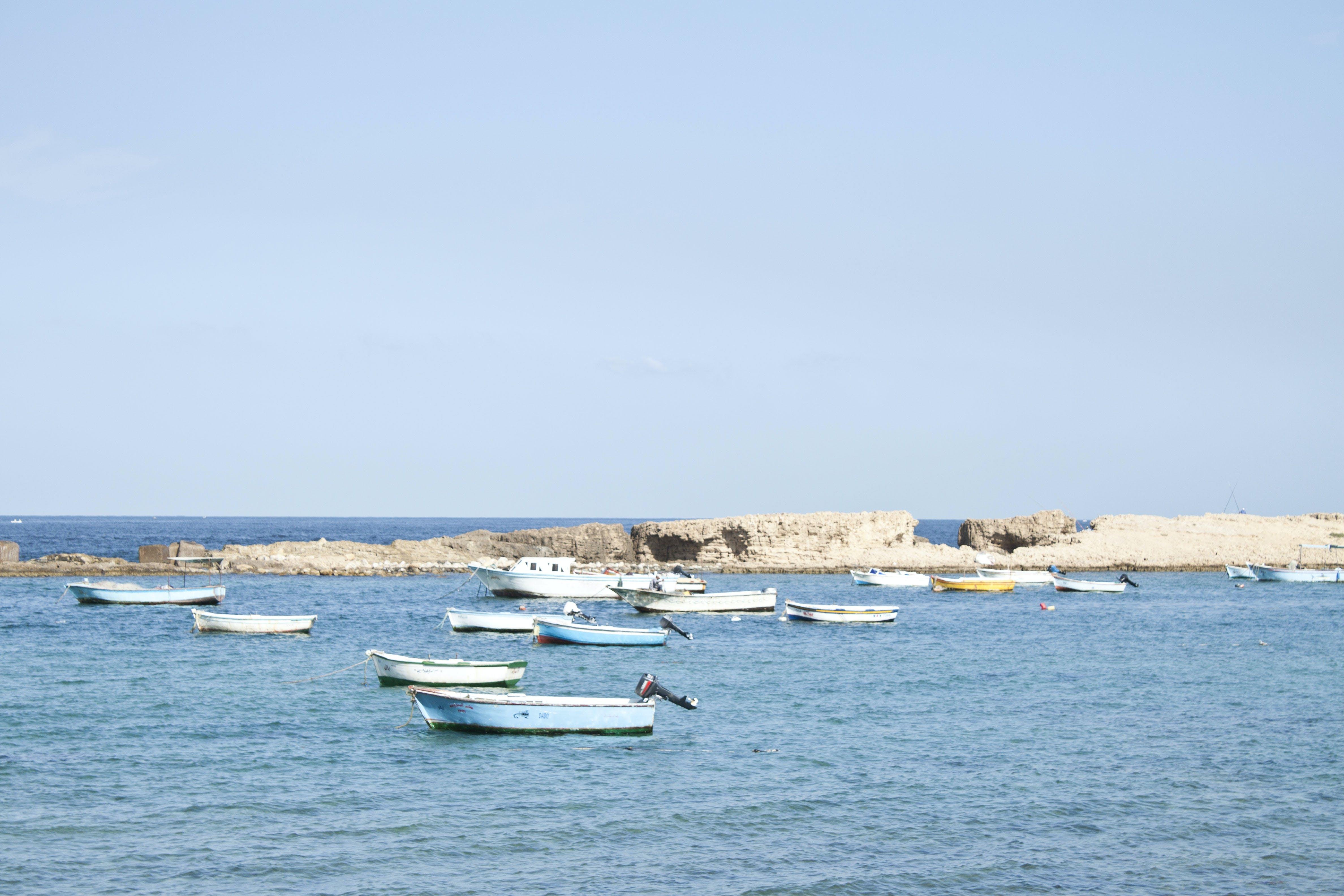 Free stock photo of beach, blue, boats, sea