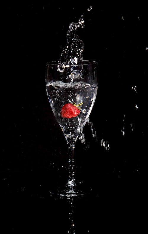 溅草莓, 飛濺水花 的 免费素材图片