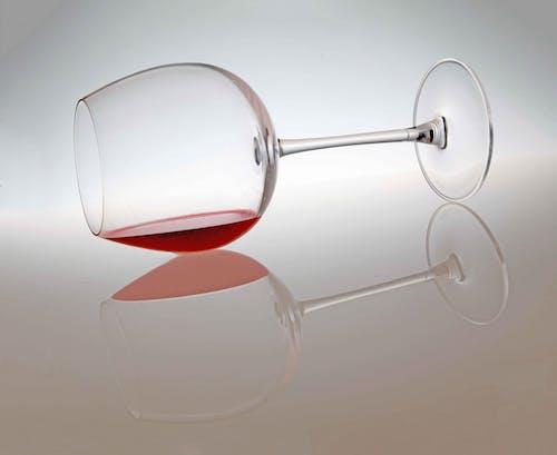 一杯酒, 反射, 紅酒 的 免费素材照片