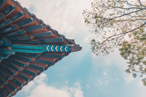 Základová fotografie zdarma na téma architektura, bílé mraky, buddha