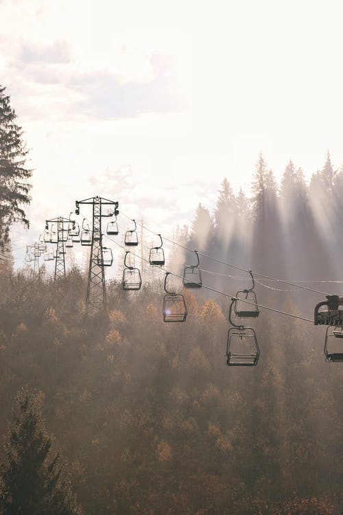 Photo of Cable Cars Near Trees