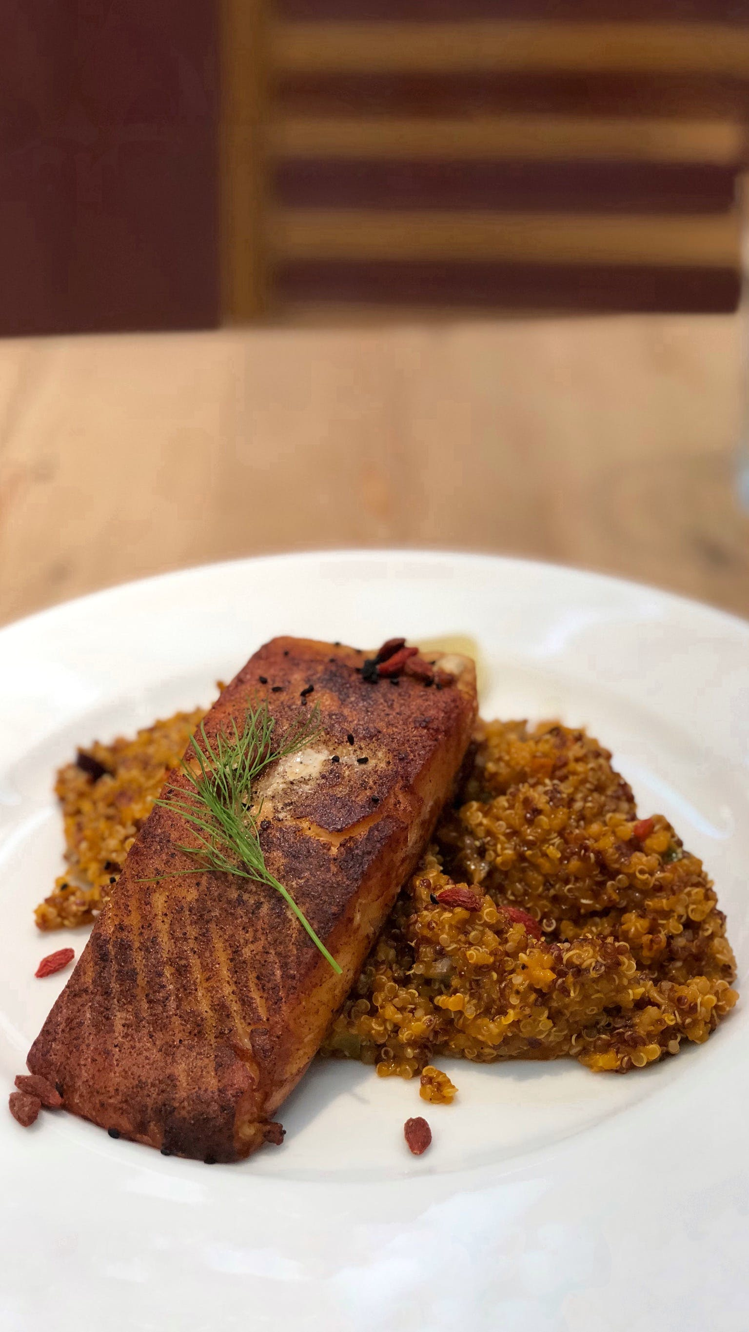 Free stock photo of lunch, foods, salmon, grilled