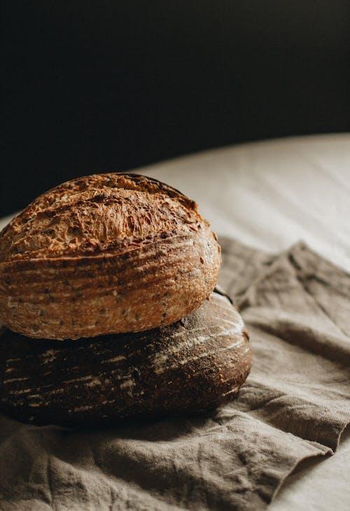 Brown Nut on White Textile