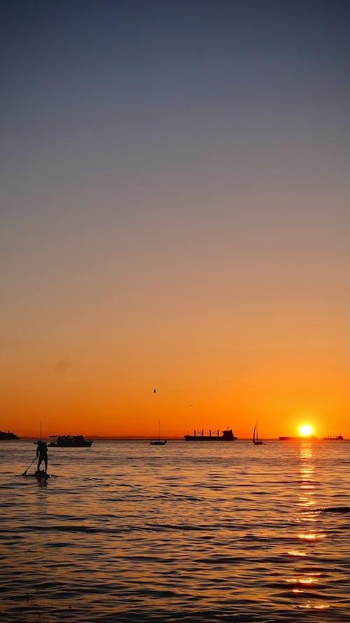 Free stock photo of beautiful sunset, golden hour, mellow yellow
