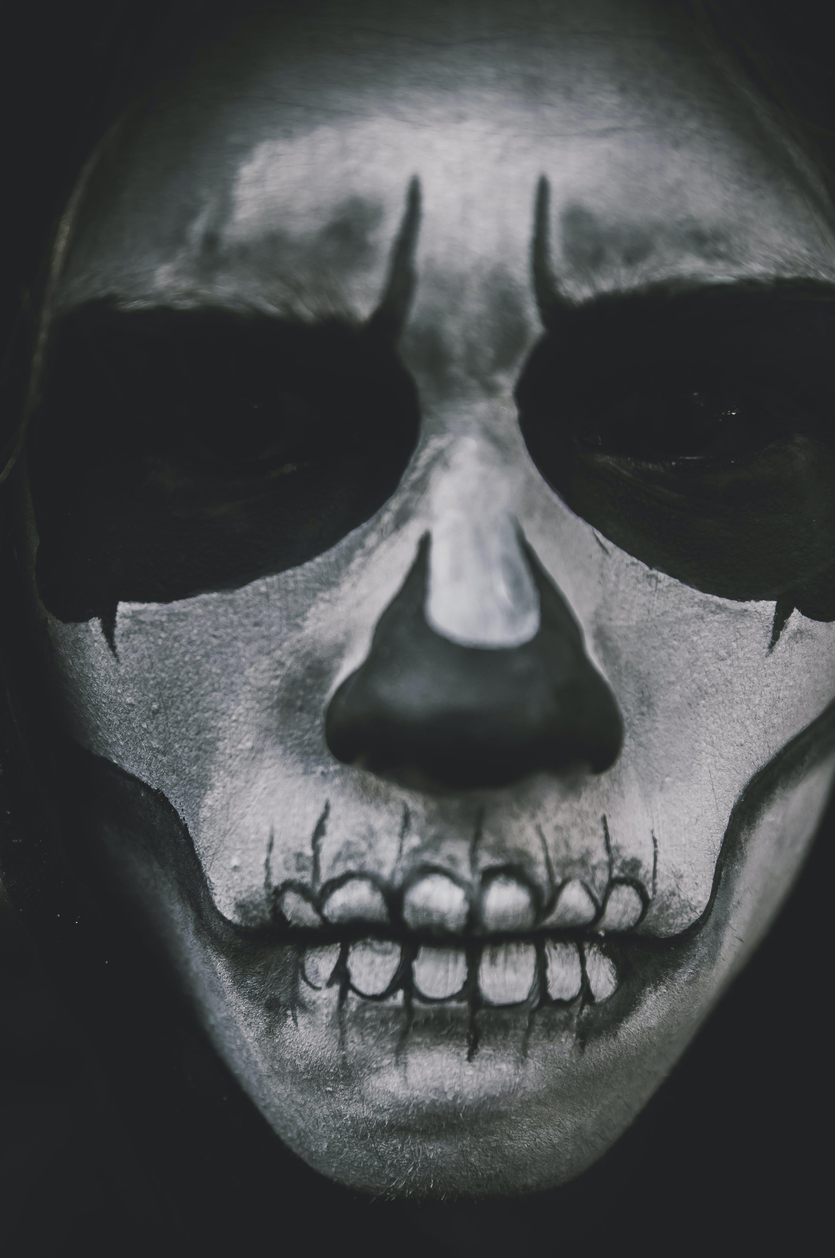 black-and-white, costume, creepy