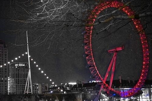 伦敦大桥, 倫敦, 倫敦眼, 光 的 免费素材照片